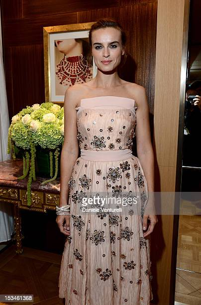 Kasia Smutniak attends Cartier Boutique reopening cocktail party on October 5 2012 in Milan Italy