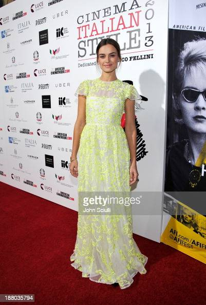 Kasia Smutniak attends Cinema Italian Style 2013 'The Great Beauty' opening night premiere at the Egyptian Theatre on November 14 2013 in Hollywood...