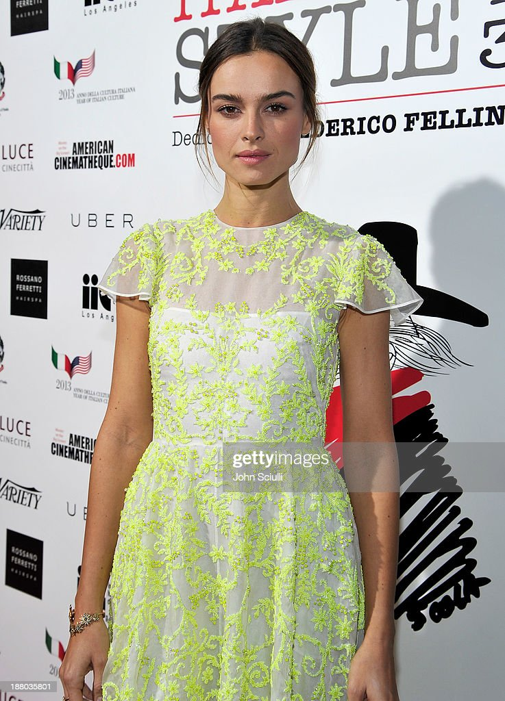 Kasia Smutniak attends Cinema Italian Style 2013 'The Great Beauty' opening night premiere at the Egyptian Theatre on November 14, 2013 in Hollywood, California.