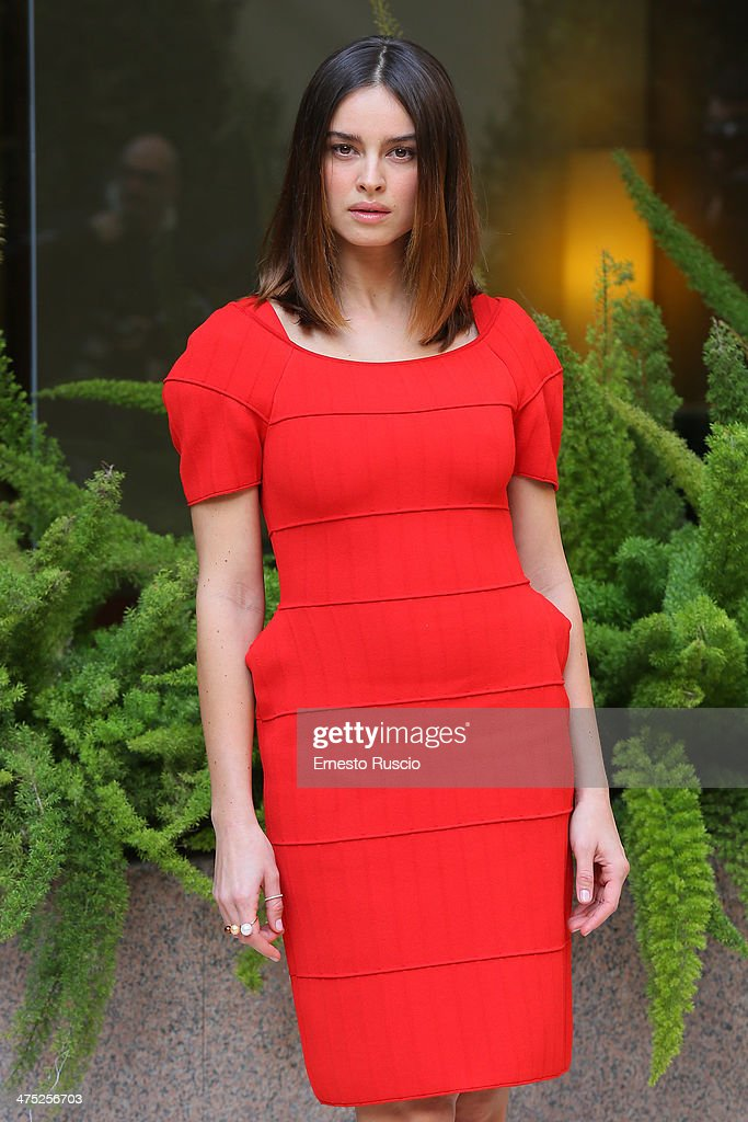 Kasia Smutniak attends the 'Allacciate Le Cinture' photocall at Hotel Visconti on February 27 2014 in Rome Italy