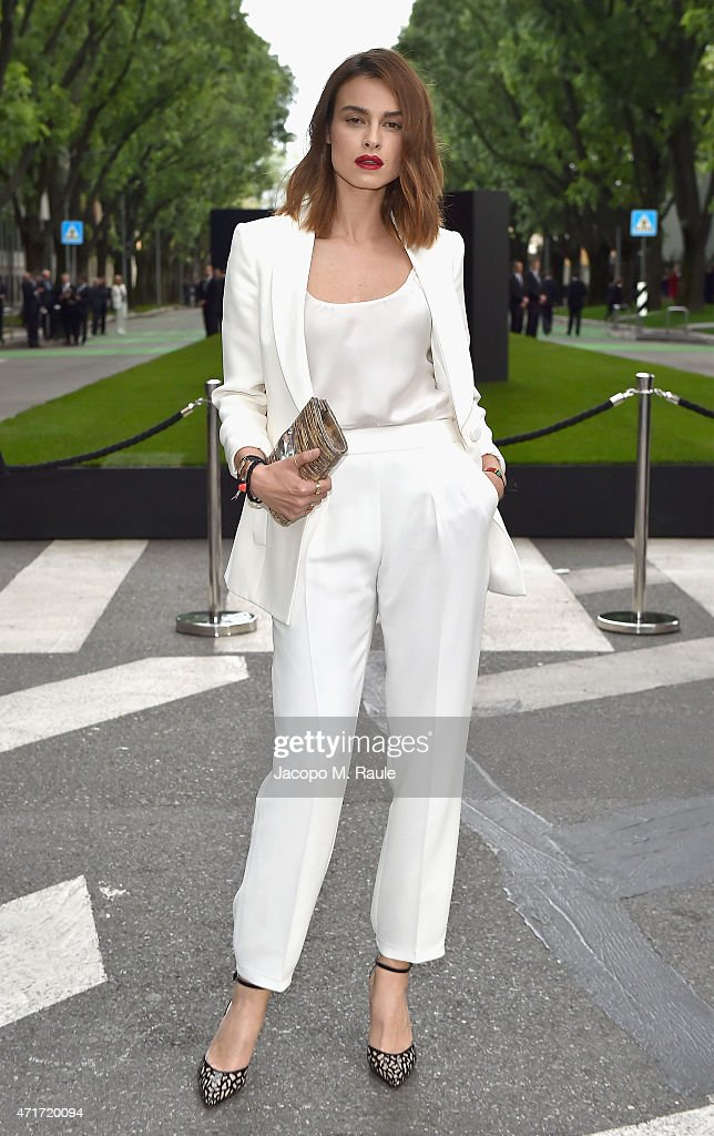 Kasia Smutniak attends the Giorgio Armani 40th Anniversary Silos Opening And Cocktail Reception on April 30 2015 in Milan Italy