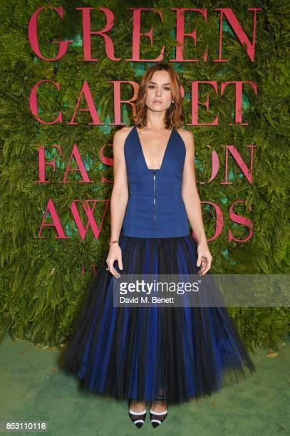 Kasia Smutniak attends the Green Carpet Fashion Awards Italia wearing Fendi for the Green Carpet Challenge at Teatro Alla Scala on September 24 2017...