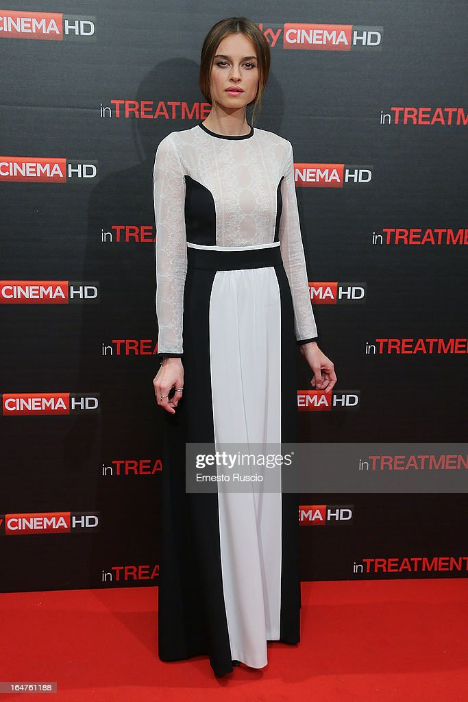 Kasia Smutniak attends the 'In Treatment' premiere at Teatro Capranica on March 27, 2013 in Rome, Italy.