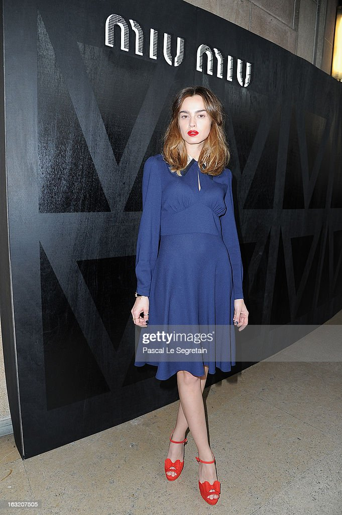 Kasia Smutniak attends the Miu Miu Fall/Winter 2013 Ready-to-Wear show as part of Paris Fashion Week on March 6, 2013 in Paris, France.