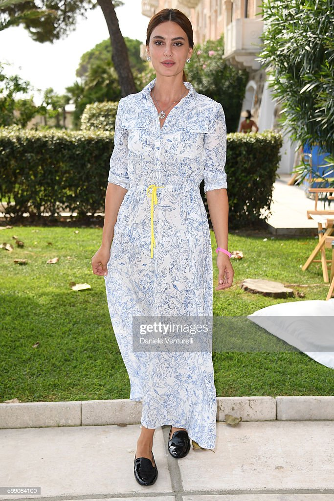 Kasia Smutniak poses after the Kineo Diamanti Award press conference during the 73rd Venice Film Festival at on September 4, 2016 in Venice, Italy.