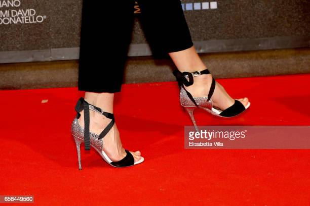 Kasia Smutniak shoe detail walks the red carpet of the 61 David Di Donatello on March 27 2017 in Rome Italy