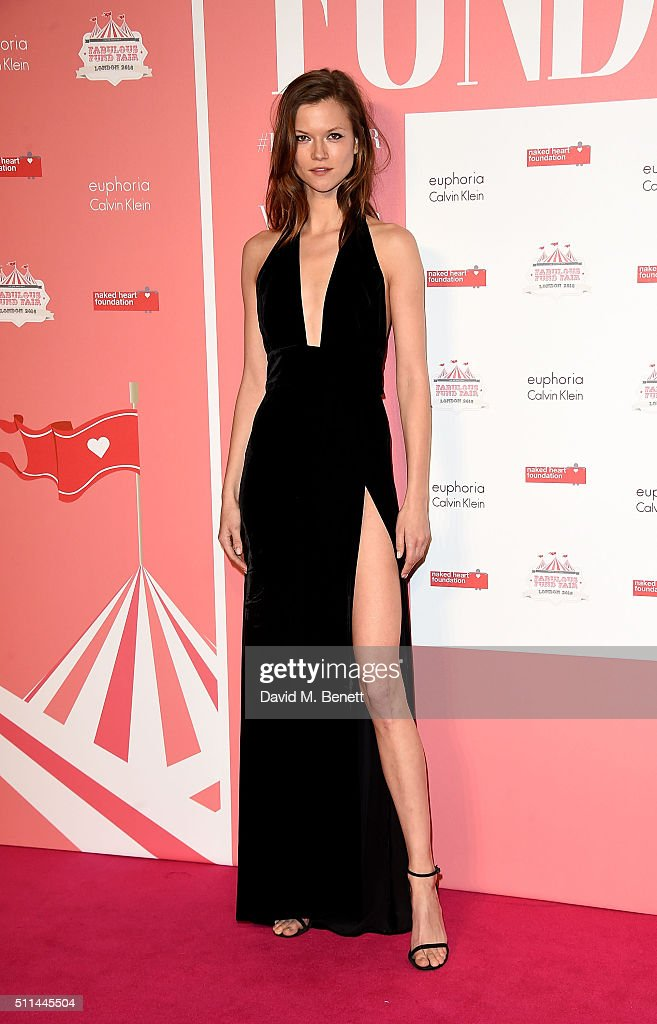 Kasia Struss at The Naked Heart Foundation's Fabulous Fund Fair in London at Old Billingsgate Market on February 20 2016 in London England