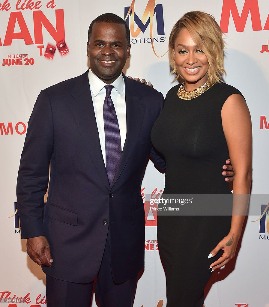 Kasim Reed and <a gi-track='captionPersonalityLinkClicked' href=/galleries/search?phrase=La+La+Anthony&family=editorial&specificpeople=209433 ng-click='$event.stopPropagation()'>La La Anthony</a> attend the 'Think Like A Man Too' premiere at Regal Cinemas Atlantic Station Stadium 16 on June 11, 2014 in Atlanta, Georgia.
