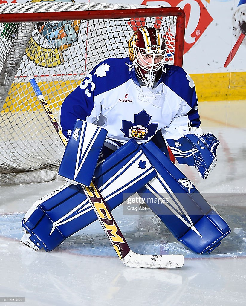 kasimir-kaskisuo-of-the-toronto-marlies-skates-in-warmup-prior-to-a-picture-id522684500