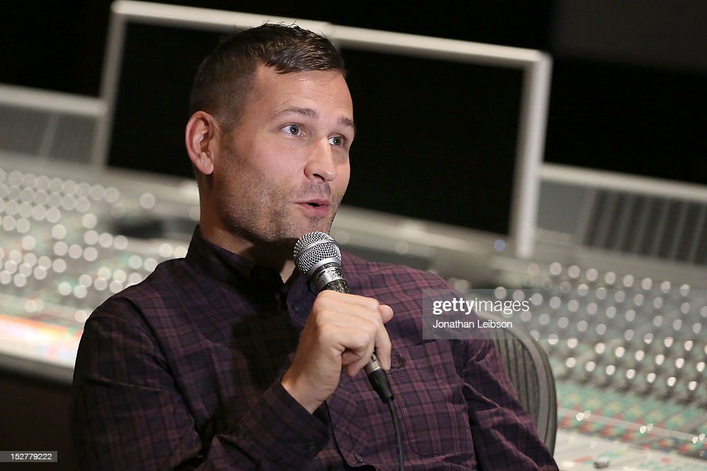Kaskade attends the GRAMMY U Los Angeles Presents Up Close And Personal With Steve Aoki And Kaskade at Los Angeles Film School on September 25, 2012 in Los Angeles, California.