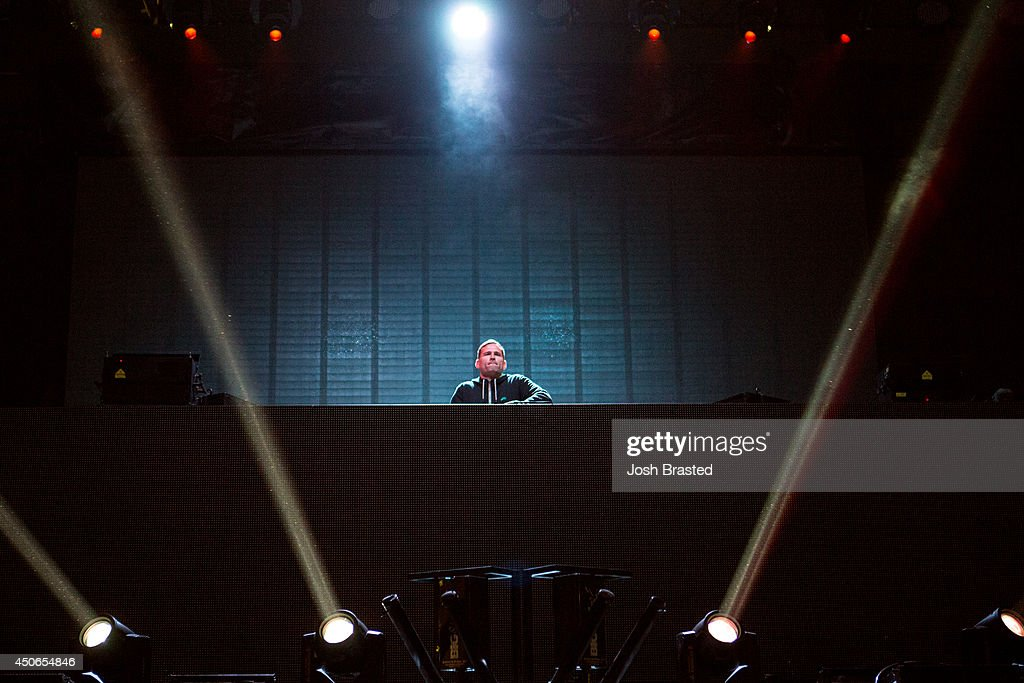 Kaskade performs during the 2014 Bonnaroo Music & Arts Festival on June 14, 2014 in Manchester, Tennessee.