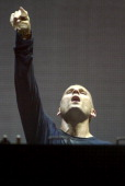 Kaskade performs during the Ultra Music Festival at Bayfront Park Amphitheater on March 28 2014 in Miami Florida