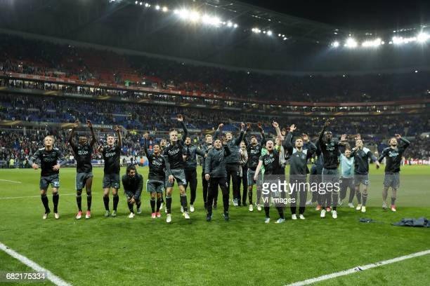 Kasper Dolberg of Ajax Bertrand Traore of Ajax Matthijs de Ligt of Ajax Amin Younes of Ajax Justin Kluivert of Ajax Kenny Tete of Ajax Donny van de...