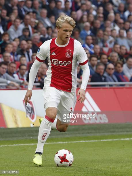 Kasper Dolberg of Ajax during the Dutch Eredivisie match between Ajax Amsterdam and Vitesse Arnhem at the Amsterdam Arena on September 24 2017 in...