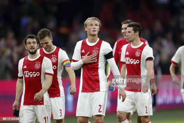 Kasper Dolberg of Ajax during the Dutch Eredivisie match between Ajax Amsterdam and Sparta Rotterdam at the Amsterdam Arena on October 14 2017 in...