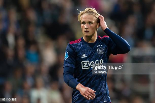 Kasper Dolberg of Ajax during the Dutch Eredivisie match between Heracles Almelo and Ajax Amsterdam at Polman stadium on August 12 2017 in Almelo The...