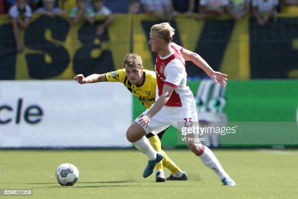 Kasper Dolberg of Ajax during the Dutch Eredivisie match between VVV Venlo and Ajax Amsterdam at Seacon stadium De Koel on August 27 2017 in Venlo...