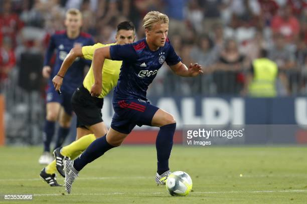 Kasper Dolberg of Ajax during the UEFA Champions League third round qualifying first leg match between OGC Nice and Ajax Amsterdam on July 26 2017 at...