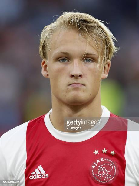Kasper Dolberg of Ajax during the UEFA Europa League fourth round qualifying first leg match between Ajax Amsterdam and RosenBorg BK at the Amsterdam...