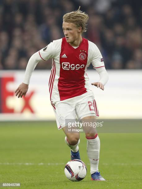 Kasper Dolberg of Ajaxduring the UEFA Europa League round of 32 match between Ajax Amsterdam and FC Copenhagen at the Amsterdam Arena on March 16...