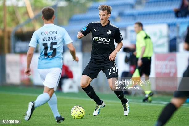 Kasper Enghardt of Randers FC in action during the Danish Alka Superliga match between SonderjyskE and Randers FC at Sydbank Park on July 15 2017 in...
