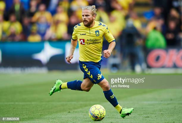 Kasper Fisker of Brondby IF controls the ball during the UEFA Europa League Qualification match between Brondby IF and VPS Vaasa at Brondby Stadion...