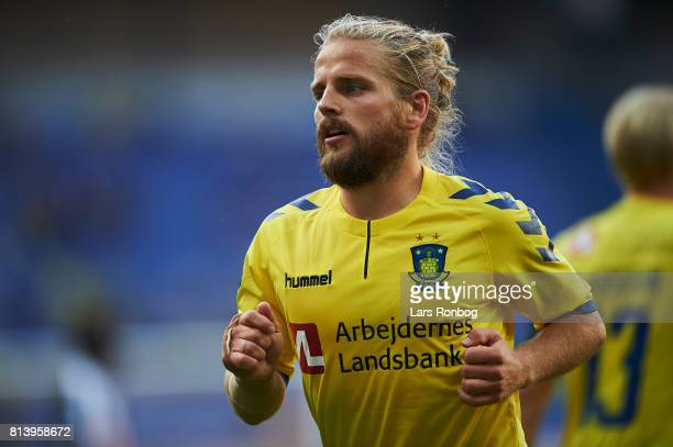 Kasper Fisker of Brondby IF in action during the UEFA Europa League Qualification match between Brondby IF and VPS Vaasa at Brondby Stadion on July...