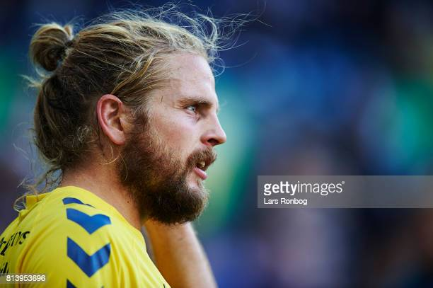 Kasper Fisker of Brondby IF looks on during the UEFA Europa League Qualification match between Brondby IF and VPS Vaasa at Brondby Stadion on July 13...