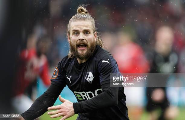 Kasper Fisker of Randers FC in action during the Danish Alka Superliga match between Silkeborg IF and Randers FC at Mascot Park on March 5 2017 in...