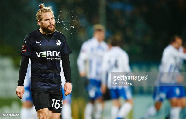 Kasper Fisker of Randers FC looks dejected during the Danish Alka Superliga match between OB Odense and Randers FC at EWII Park on February 20 2017...