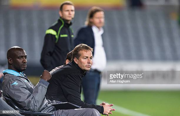 Kasper Hjulmand head coach of FC Nordsjalland during the Danish Alka Superliga match between AC Horsens and FC Nordsjalland at CASA Arena Horsens on...