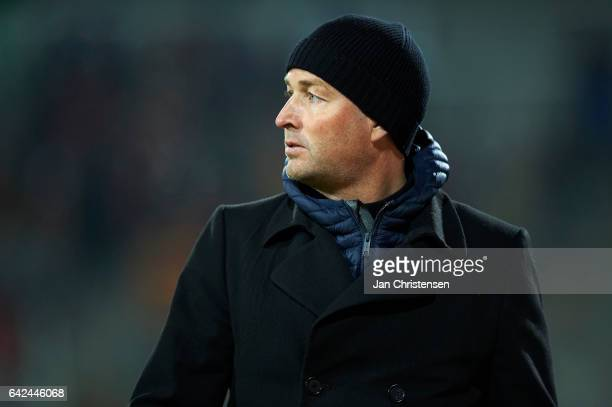 Kasper Hjulmand head coach of FC Nordsjalland in action during the Danish Alka Superliga match between FC Nordsjalland and Lyngby BK at Right to...