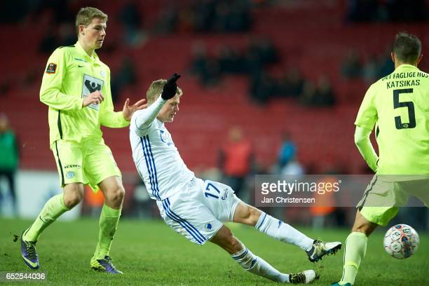 Kasper Kusk of FC Copenhagen in action during the Danish Alka Superliga match between FC Copenhagen and Esbjerg fB at Telia Parken Stadium on March...