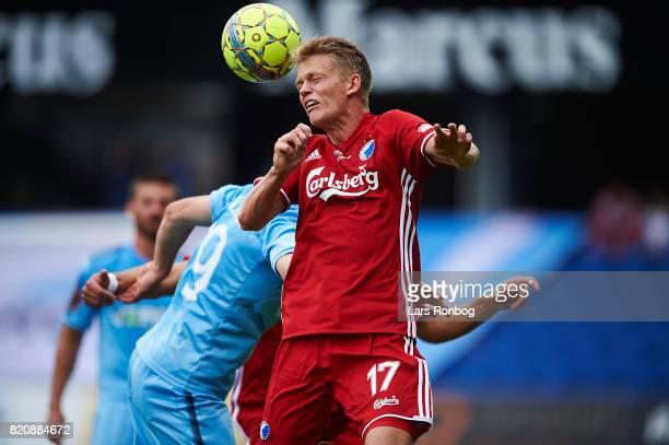 Kasper Kusk of FC Copenhagen in action during the Danish Alka Superliga match between Randers FC and FC Copenhagen at BioNutria Park on July 22 2017...