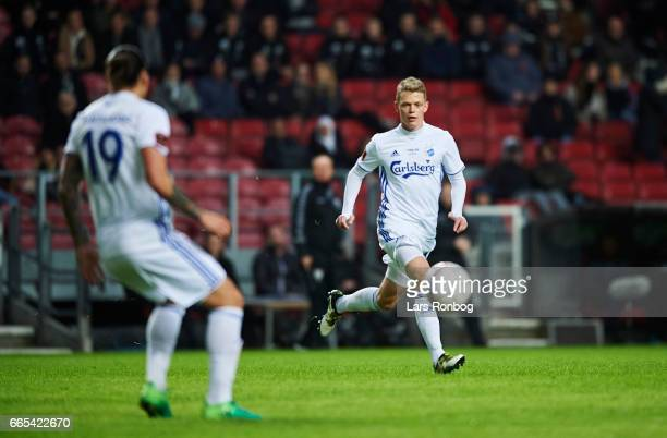 Kasper Kusk of FC Copenhagen in action during the Danish cup DBU Pokalen quarterfinal match between FC Copenhagen and AGF Aarhus at Telia Parken...