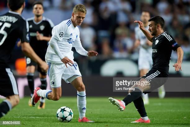 Kasper Kusk of FC Copenhagen in action during the UEFA Champions League Playoff 2nd Leg match between FC Copenhagen and Qarabag FK at Telia Parken...