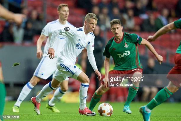 Kasper Kusk of FC Copenhagen in action during the UEFA Europa League Group Stage match between FC Copenhagen and Lokomotiv Moskva at Telia Parken...