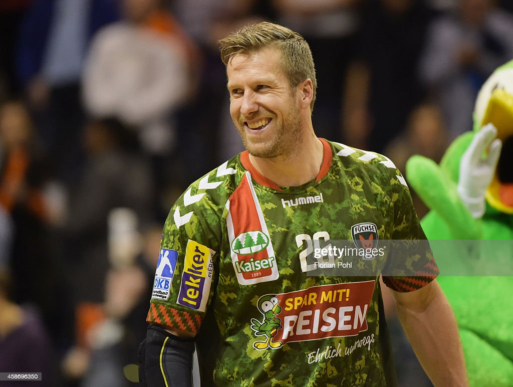 <a gi-track='captionPersonalityLinkClicked' href=/galleries/search?phrase=Kasper+Nielsen&family=editorial&specificpeople=663024 ng-click='$event.stopPropagation()'>Kasper Nielsen</a> of Fuechse Berlin during the game between Fuechse Berlin and TSG Friesenheim on november 9, 2014 in Berlin, Germany.