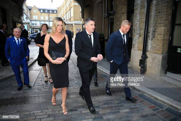 Kasper Schmeichel arrives at the Football League Awards 2015 at The Brewery in London