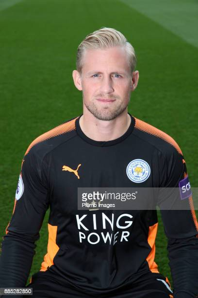 Kasper Schmeichel during the Leicester City Official Team Group on November 1 2017 in Leicester United Kingdom