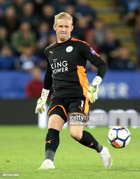 Kasper Schmeichel of Leicester City during the Premier League match between Leicester City and West Bromwich Albion at The King Power Stadium on...