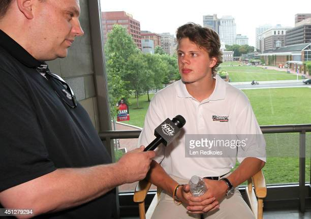 Kasperi Kapanen attends the 2014 NHL Draft Top Prospects Media Availability at the National Constitution Center on June 26 2014 in Philadelphia...