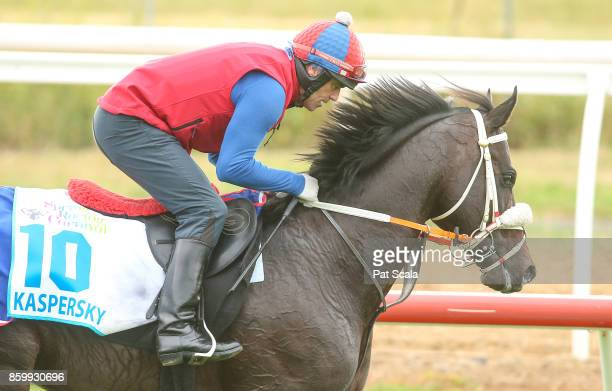 Kaspersky works this morning at Werribee Racecourse on October 11 2017 in Werribee Australia