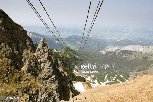 Kasprowy Wierch cable car takes passengers to the mountain top in Tatra Mountains, Zakopane, Poland : Stock Photo