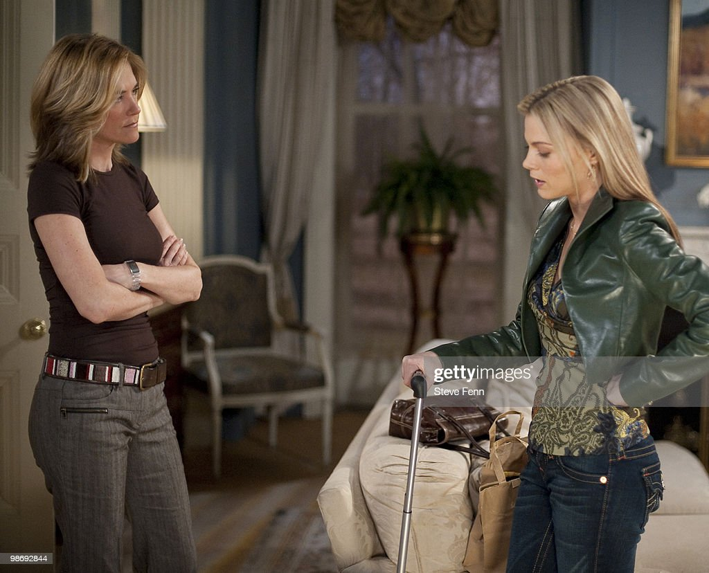 LIVE - Kassie DePaiva (Blair) and Gina Tognoni (Kelly) in a scene that airs the week of April 19, 2010 on ABC Daytime's 'One Life to Live.' 'One Life to Live' airs Monday-Friday (2:00 p.m. - 3:00 p.m., ET) on the ABC Television Network. OLTL10 (Photo by Steve Fenn/ABC via Getty Images) KASSIE