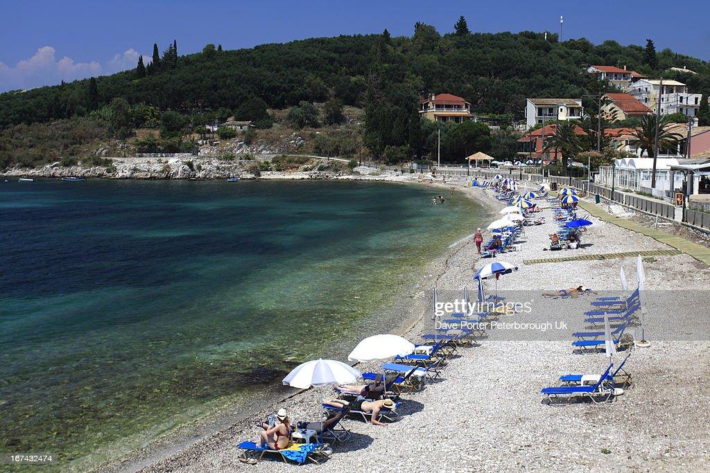 Kassiopi resort, Corfu Island : Foto de stock