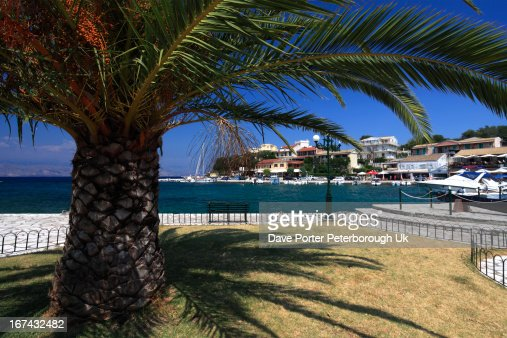 Kassiopi resort, Corfu Island : Stock Photo