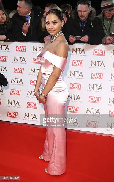 Kassius Nelson attends the National Television Awards at The O2 Arena on January 25 2017 in London England
