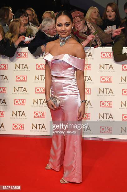 Kassius Nelson attends the National Television Awards on January 25 2017 in London United Kingdom
