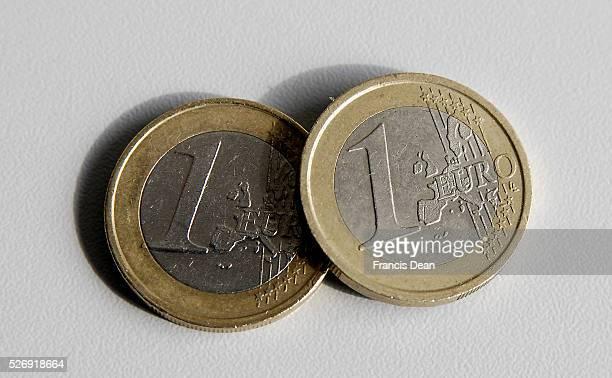 KastrupCopenhagenDenmark 12 July 2015 Eurozone euro coin